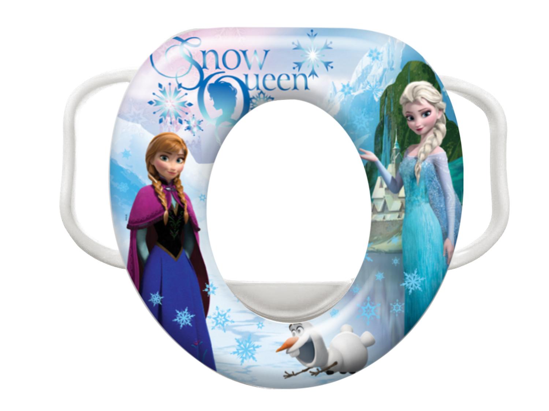 "Měkký adaptér na WC ""Frozen"", Bílá"