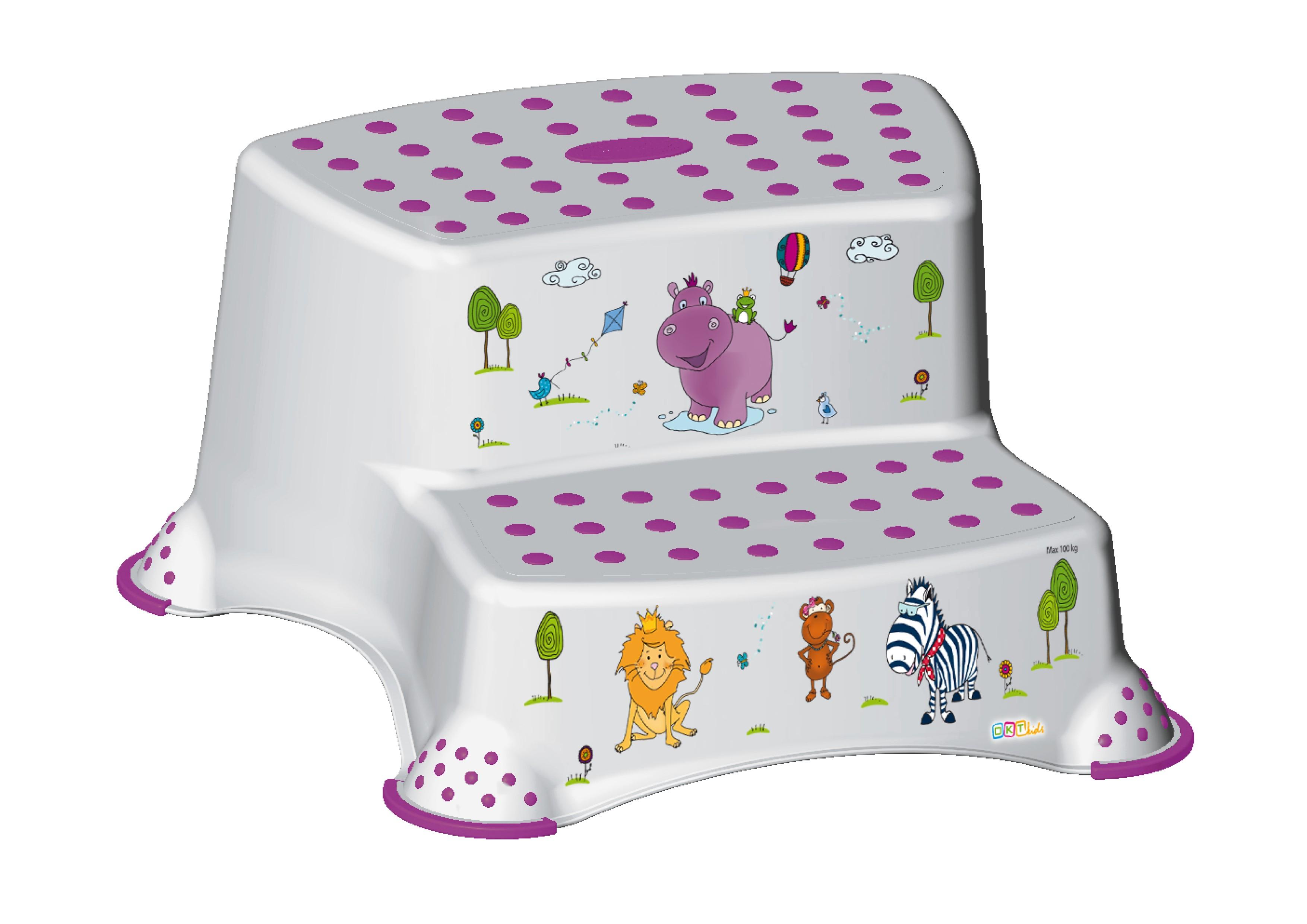 """Dvojstupínek k WC/umyvadlu """"Hippo"""", Bílá"""