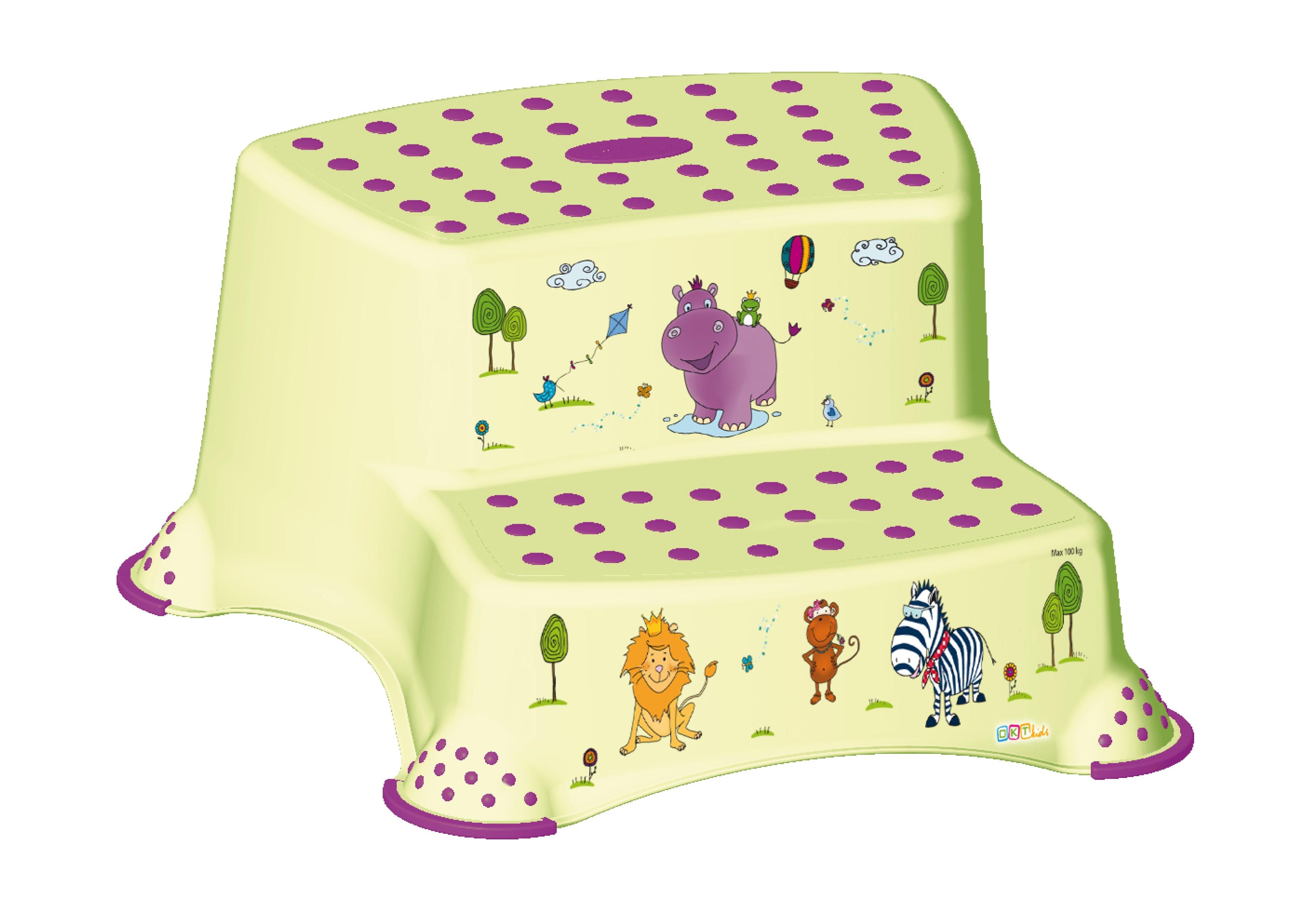 """Dvojstupínek k WC/umyvadlu """"Hippo"""", Zelená"""