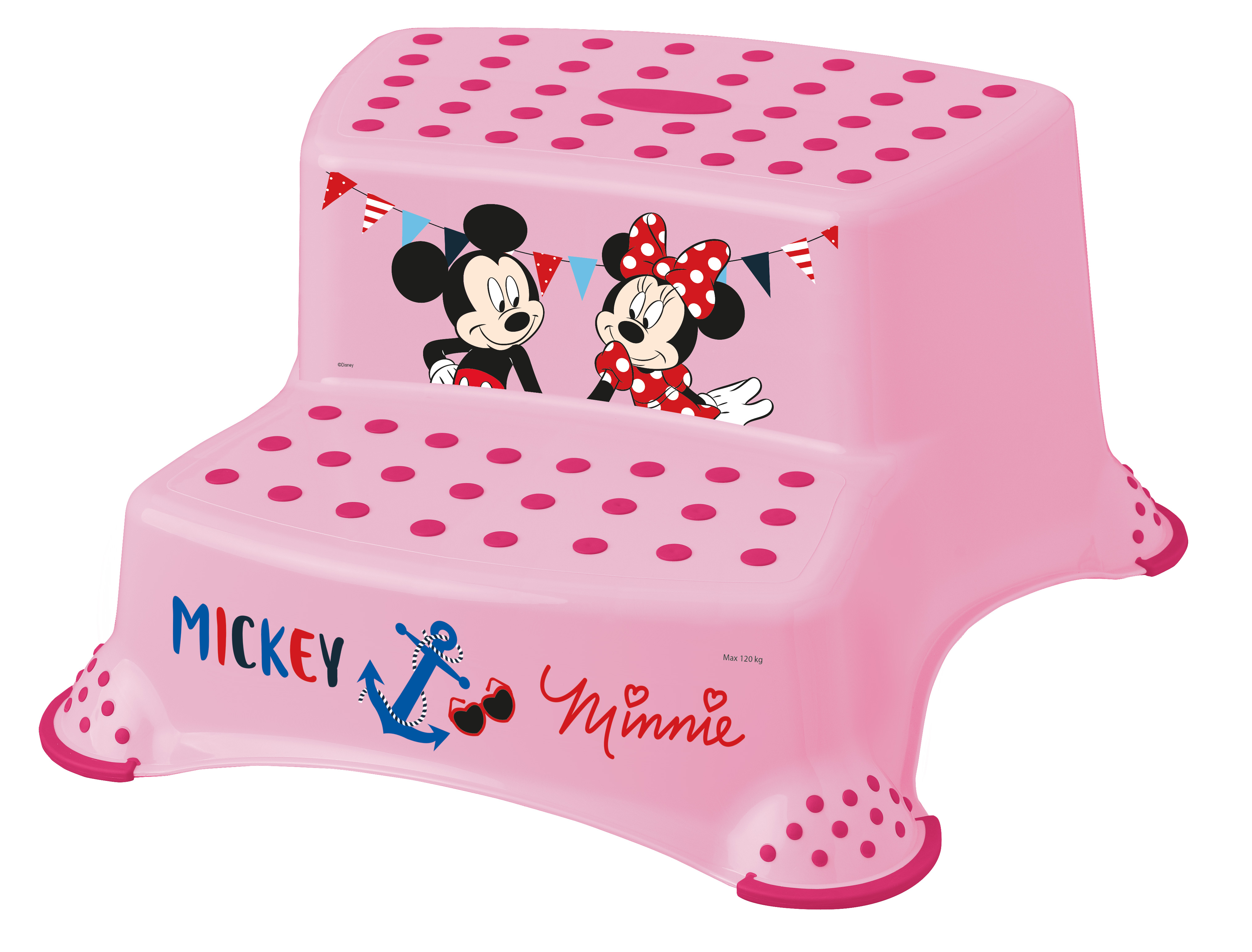 "Dvojstupínek k WC/umyvadlu ""Mickey&Minnie"", Růžová"