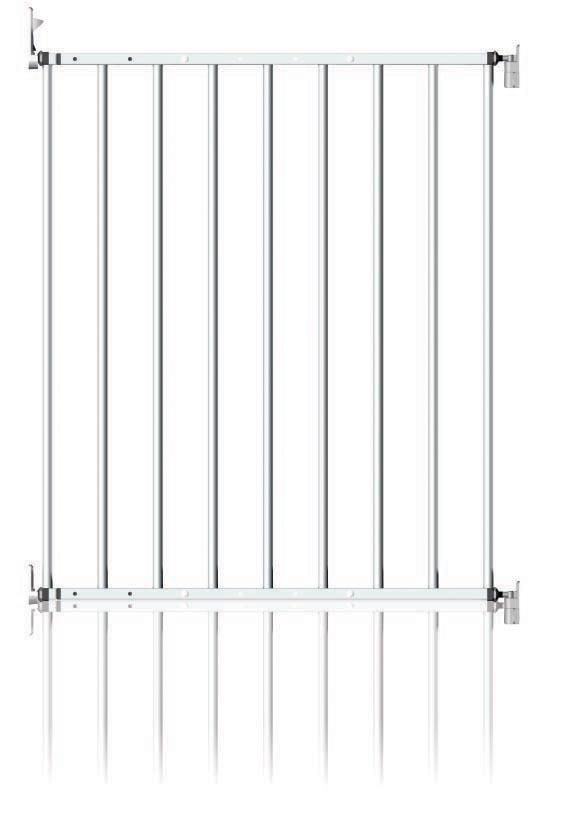 Zábrana NoTrip kovová 61-109cm, White