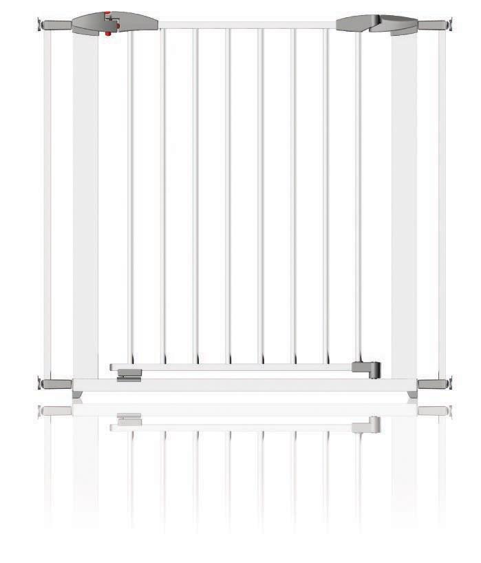 Zábrana Swing kovová 72.5-95cm, White