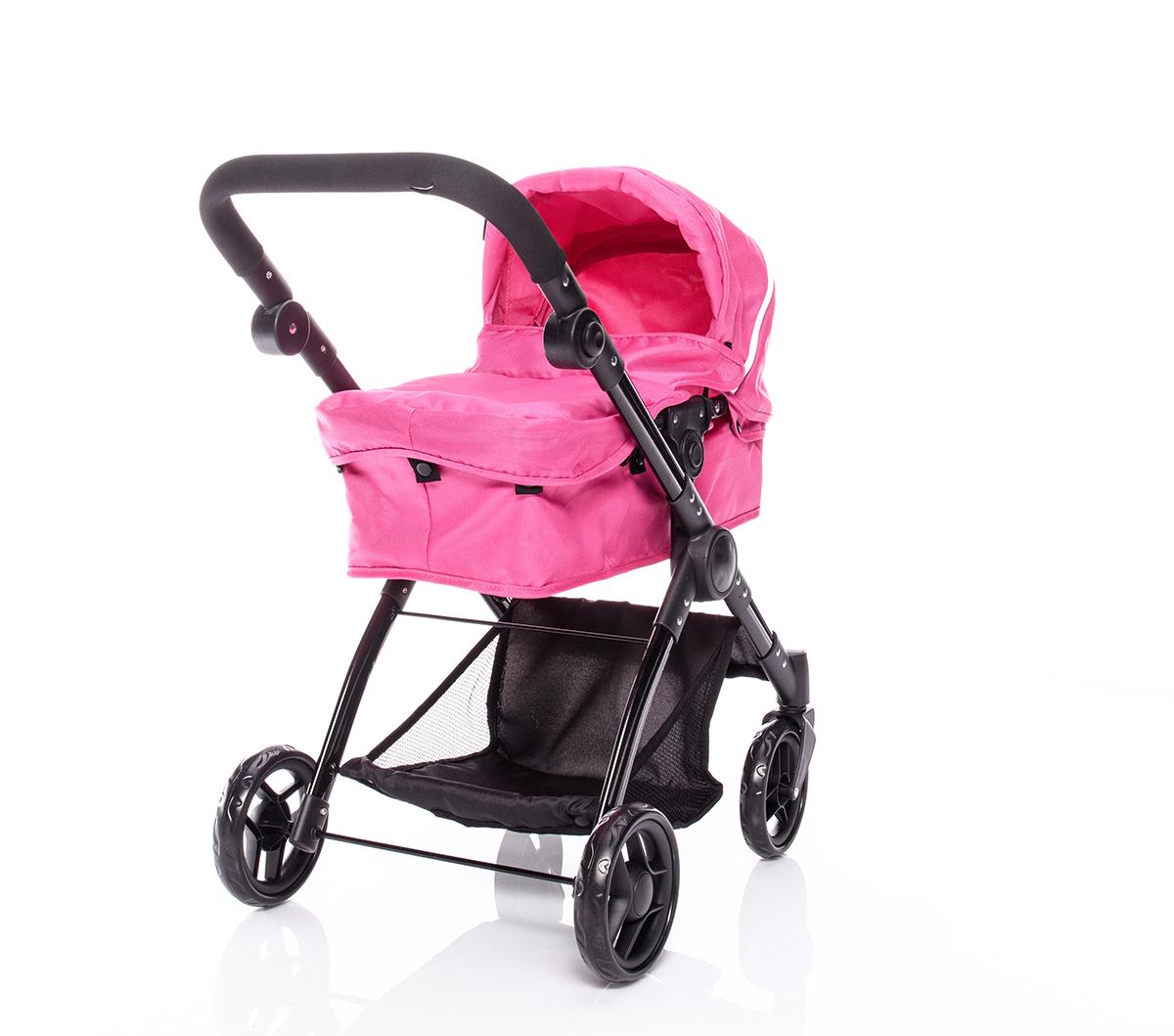 Kočárek na panenky Smile 3in1, Hot Pink