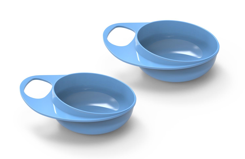 Plastové misky 2ks, Pastel blue