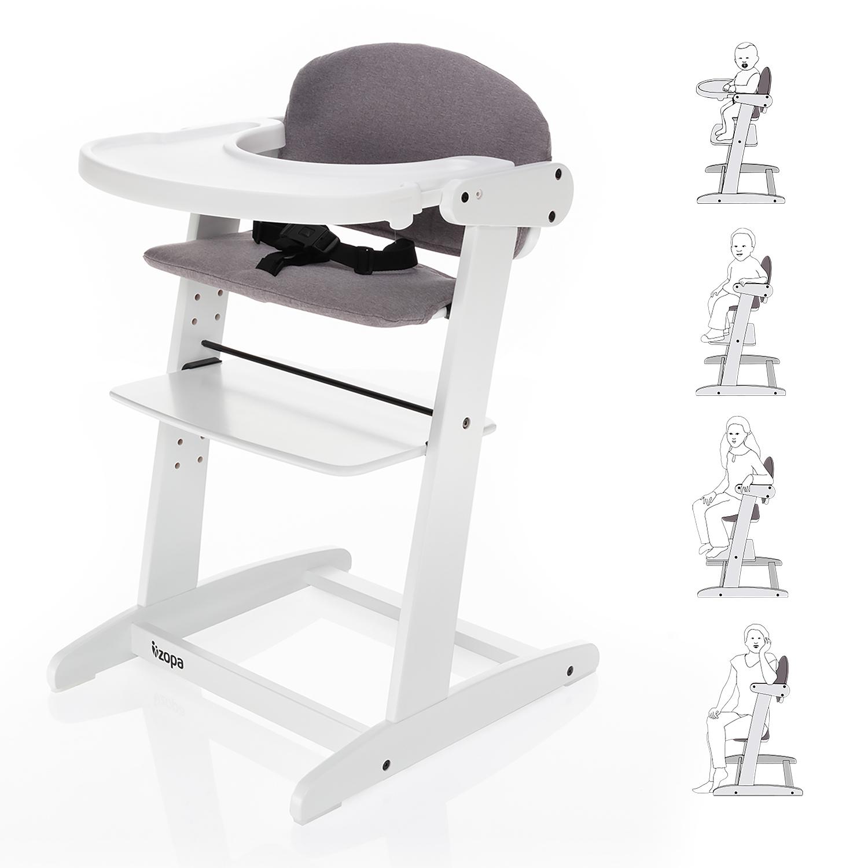 Grow-up rostoucí židlička, White/Grey