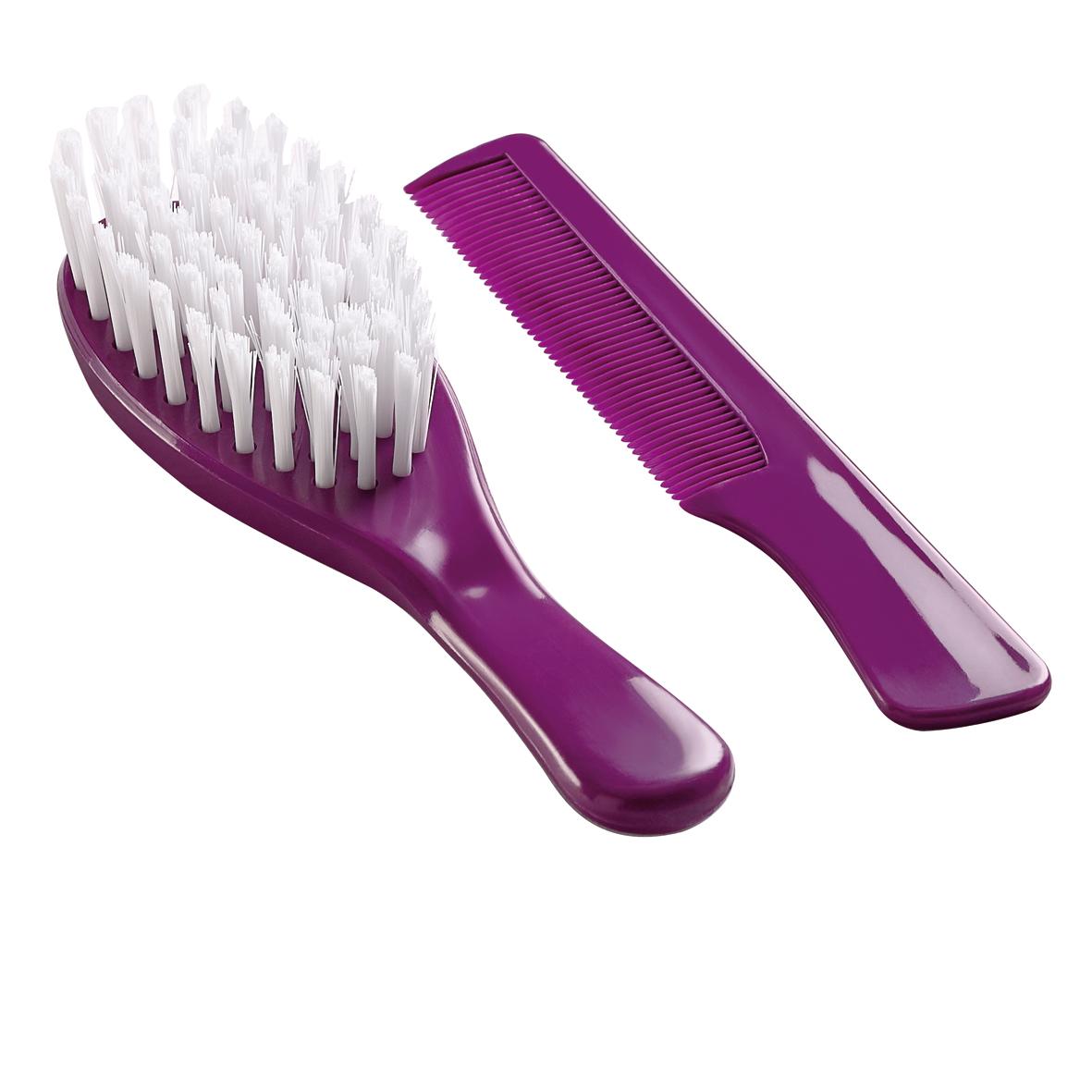 Sada kartáče a hřebenu na vlasy, Purple