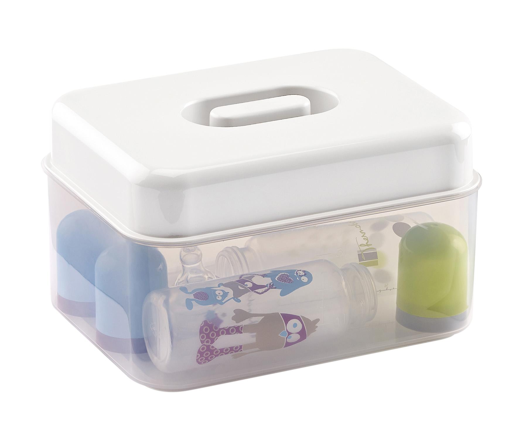 Sterilizační krabička do mikrovlnné trouby, White