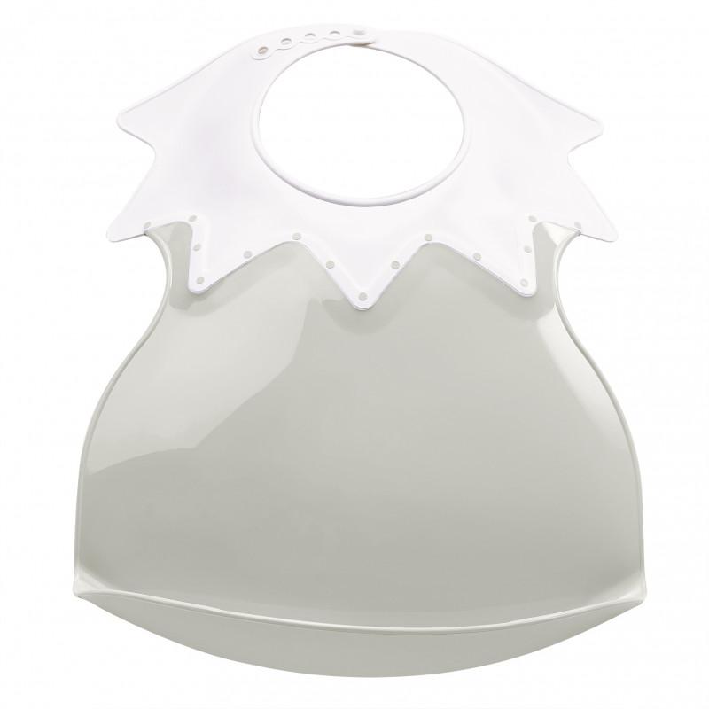 Plastový bryndák s límcem, Grey Charm