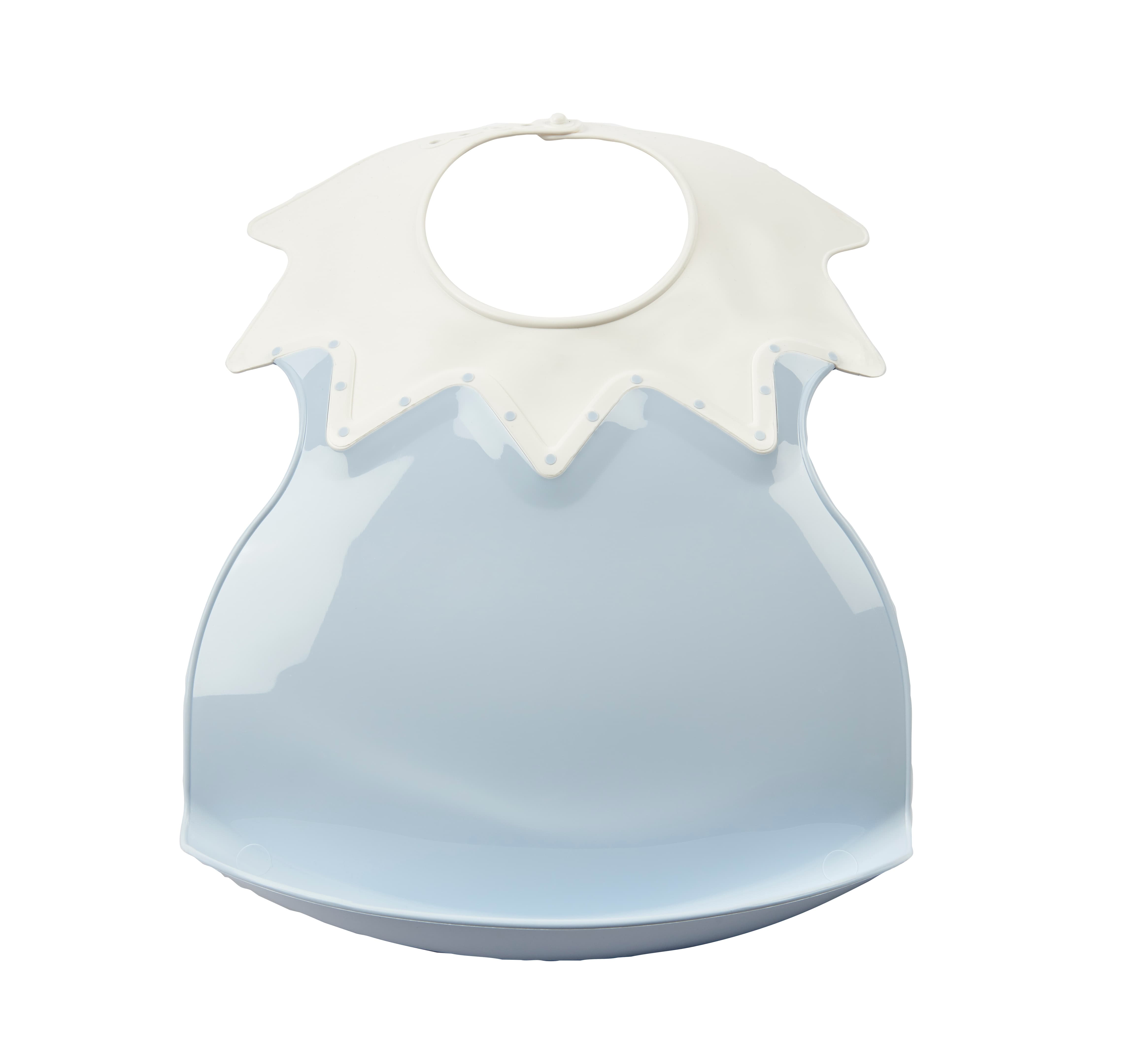 THERMOBABY  Plastový bryndák s límcem, Baby Blue