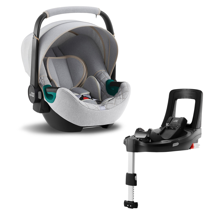 Autosedačka Baby-Safe 3 i-Size Bundle Flex iSense, Nordic Grey