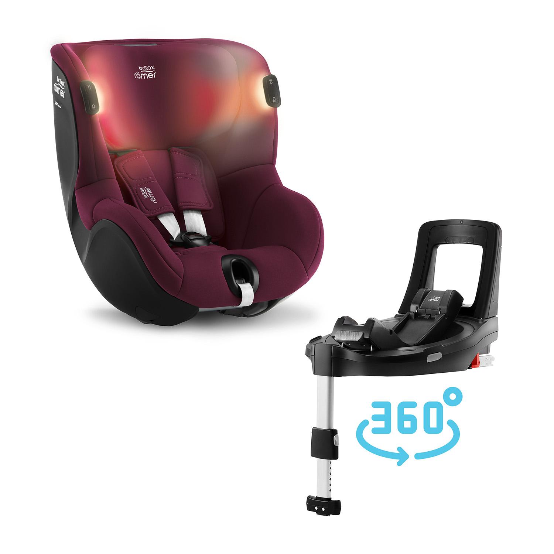 ROMER Dualfix iSense BundleFlex 2021 Burgundy Red