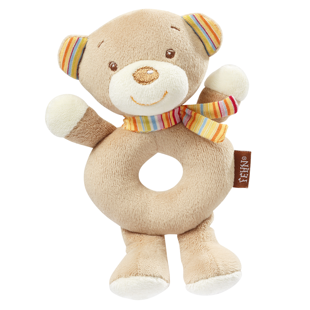 BABY FEHN  Měkký kroužek medvídek, Rainbow Medvídek