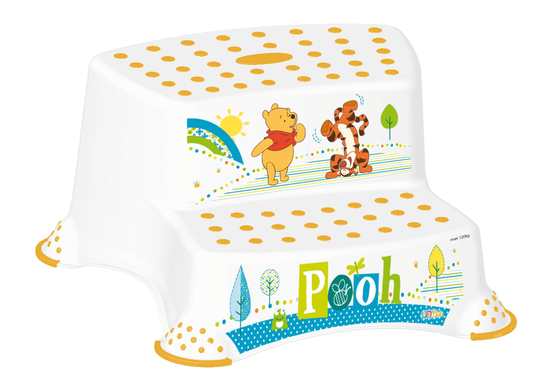 """Dvojstupínek k WC/umyvadlu """"Winnie Pooh"""", Bílá"""