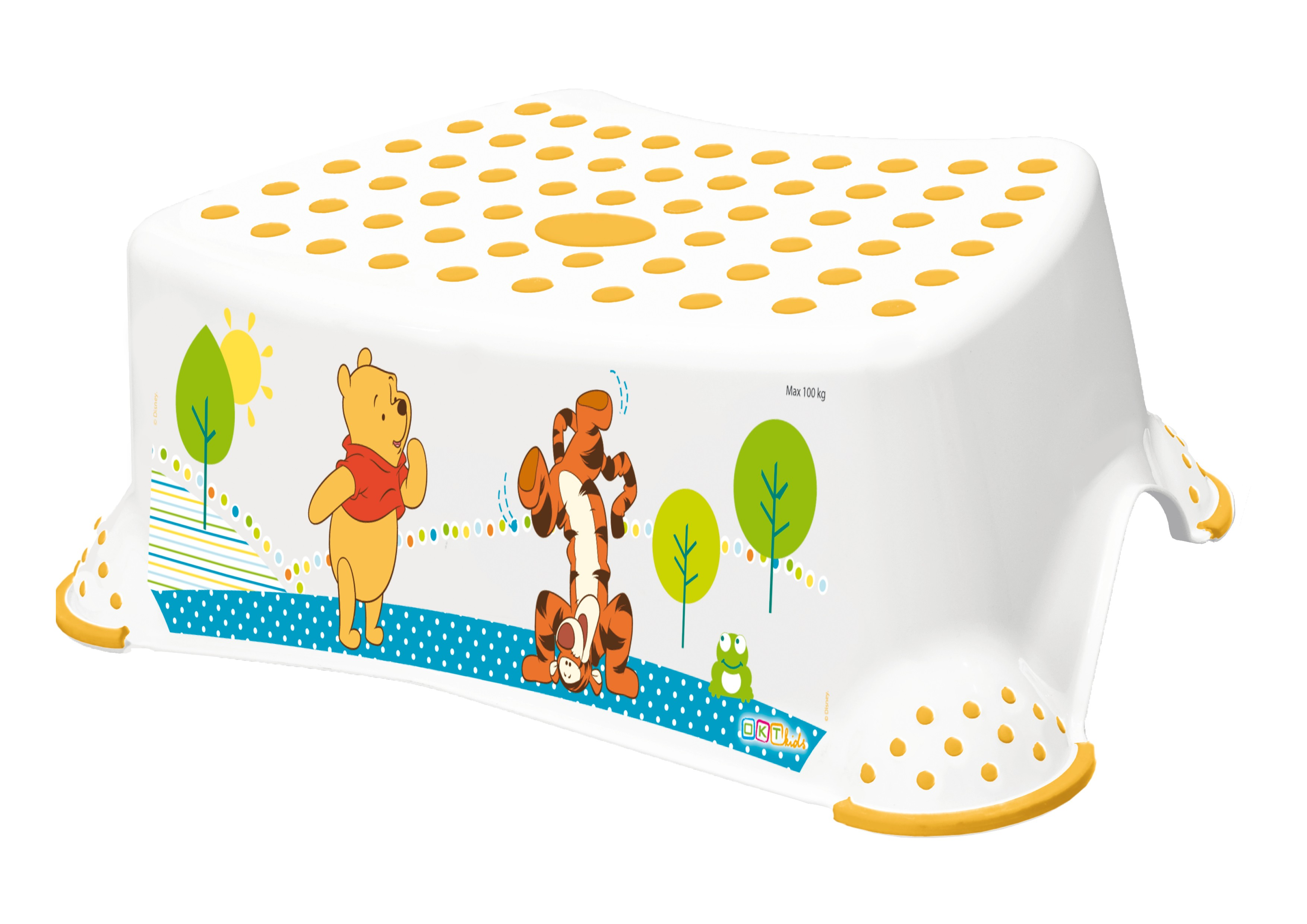"Stupínek k WC/umyvadlu ""Winnie Pooh"", Bílá"