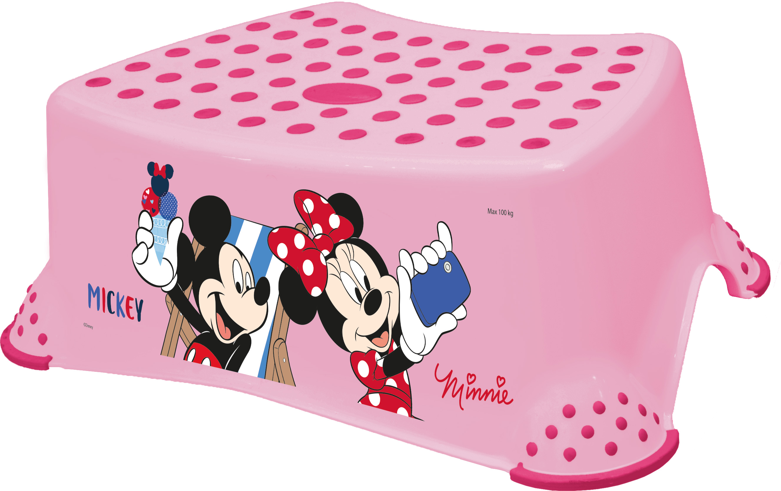 "KEEEPER  Stupínek k WC/umyvadlu ""Mickey&Minnie"", Pink"