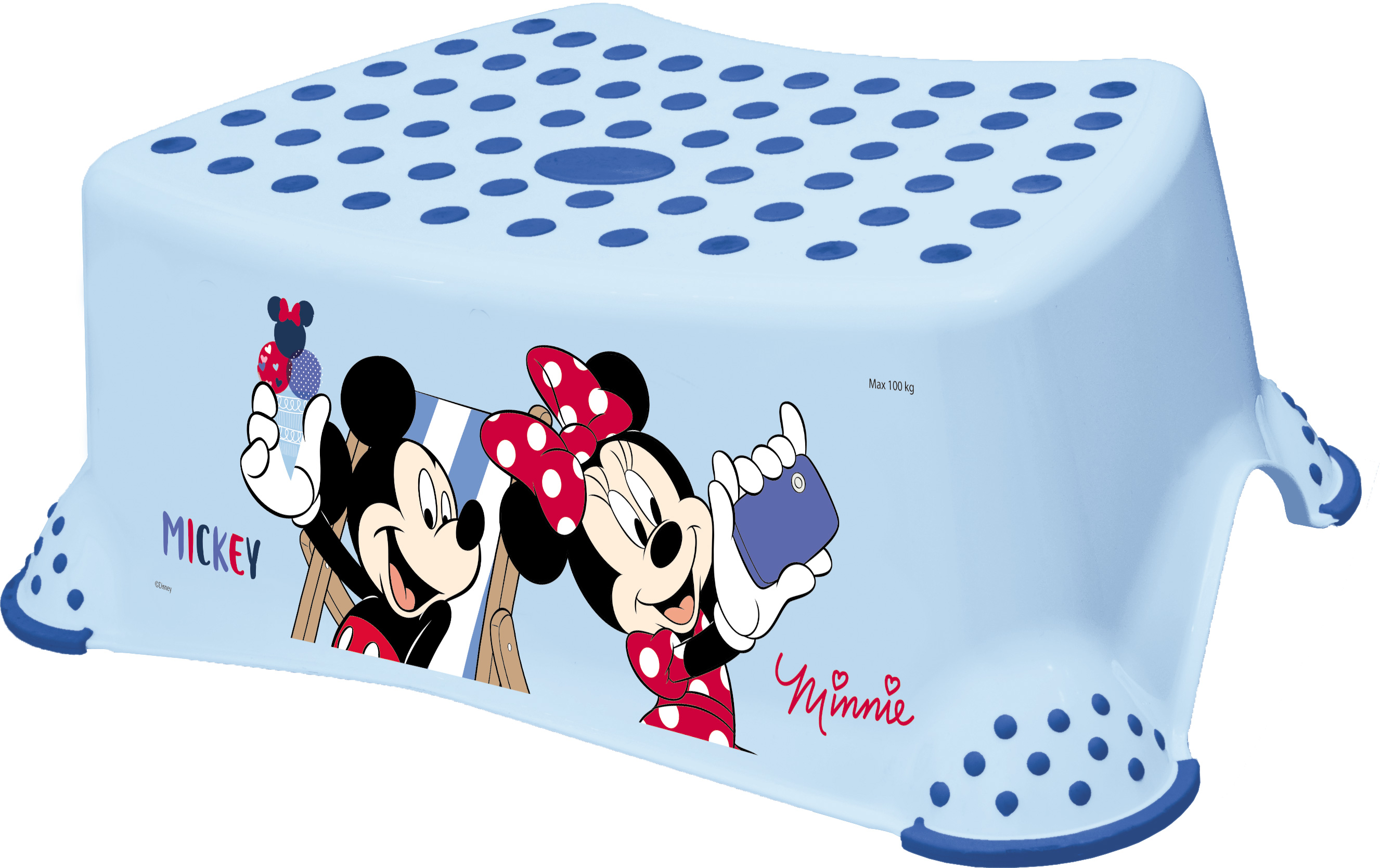 "Stupienok k WC / umývadlu ""Mickey & Minnie"", Blue"