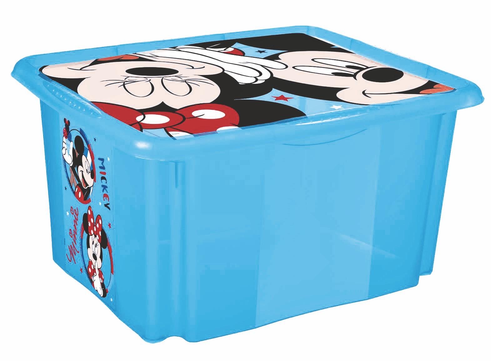"""Úložný box s víkem """"Mickey"""", Modrá"""