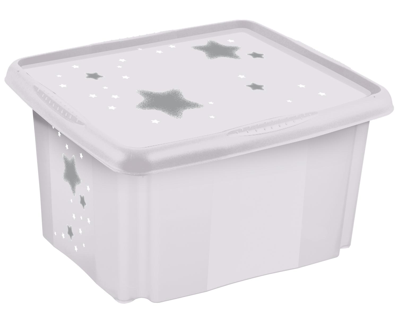 """Úložný box s víkem """"Stars"""", Bílá"""