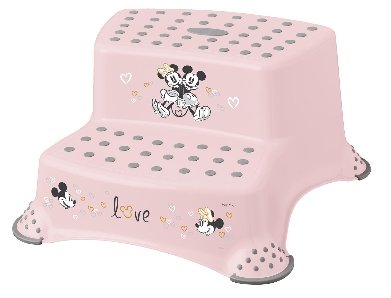 "Dvojstupínek k WC/umyvadlu ""Minnie"", Růžová"