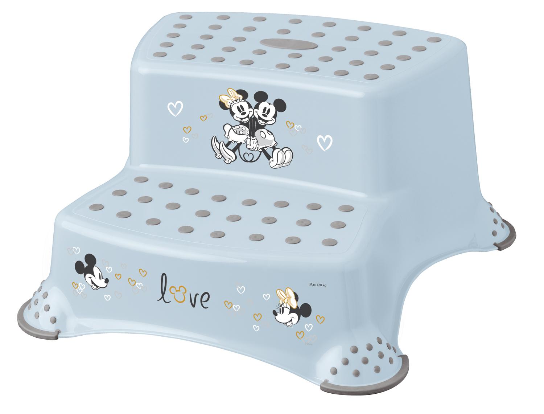 """Dvojstupínek k WC/umyvadlu """"Mickey"""", Modrá"""