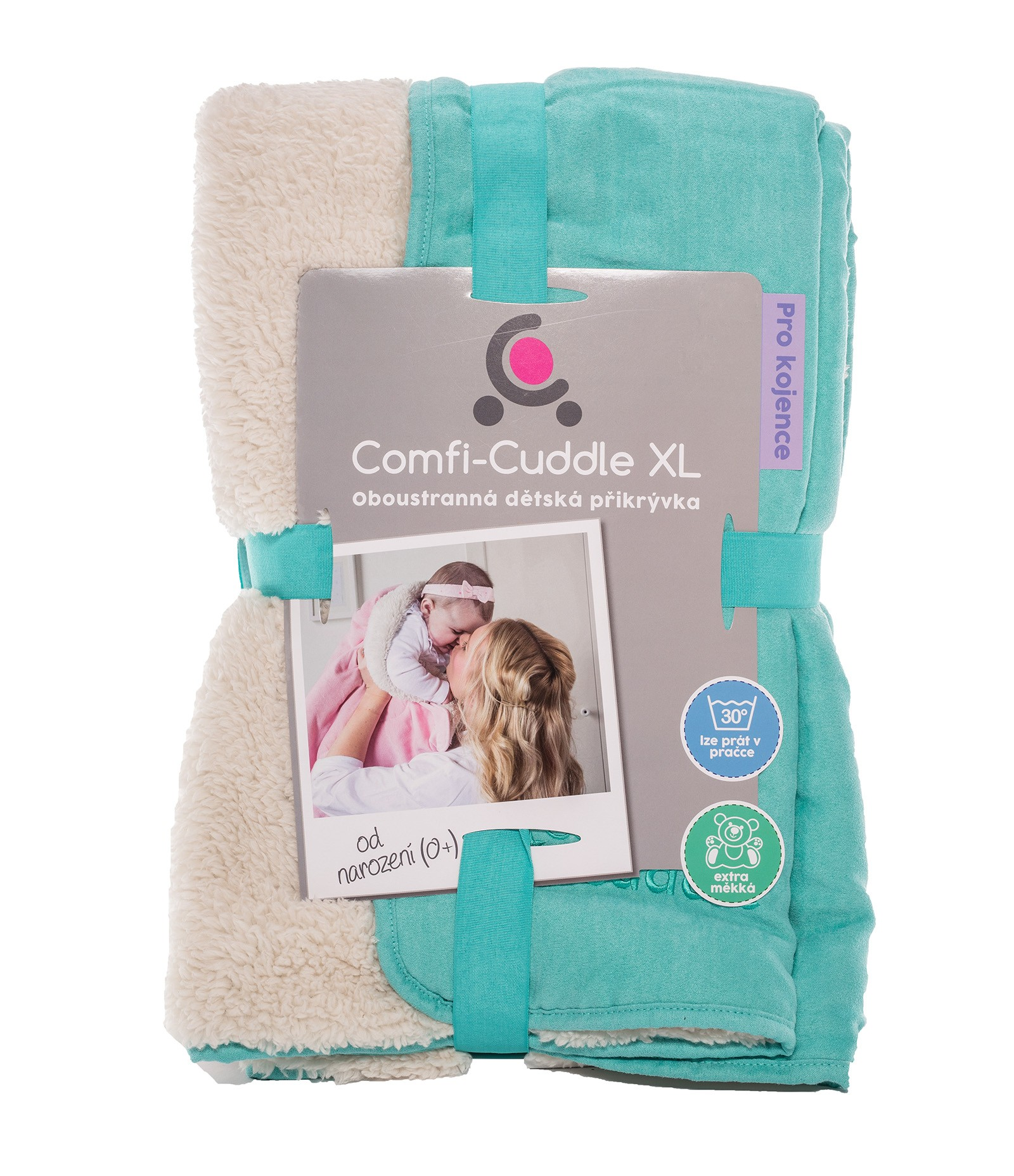 Cuddleco Dětská deka Comfi-Cuddle 140x100cm - Tiffany Blue