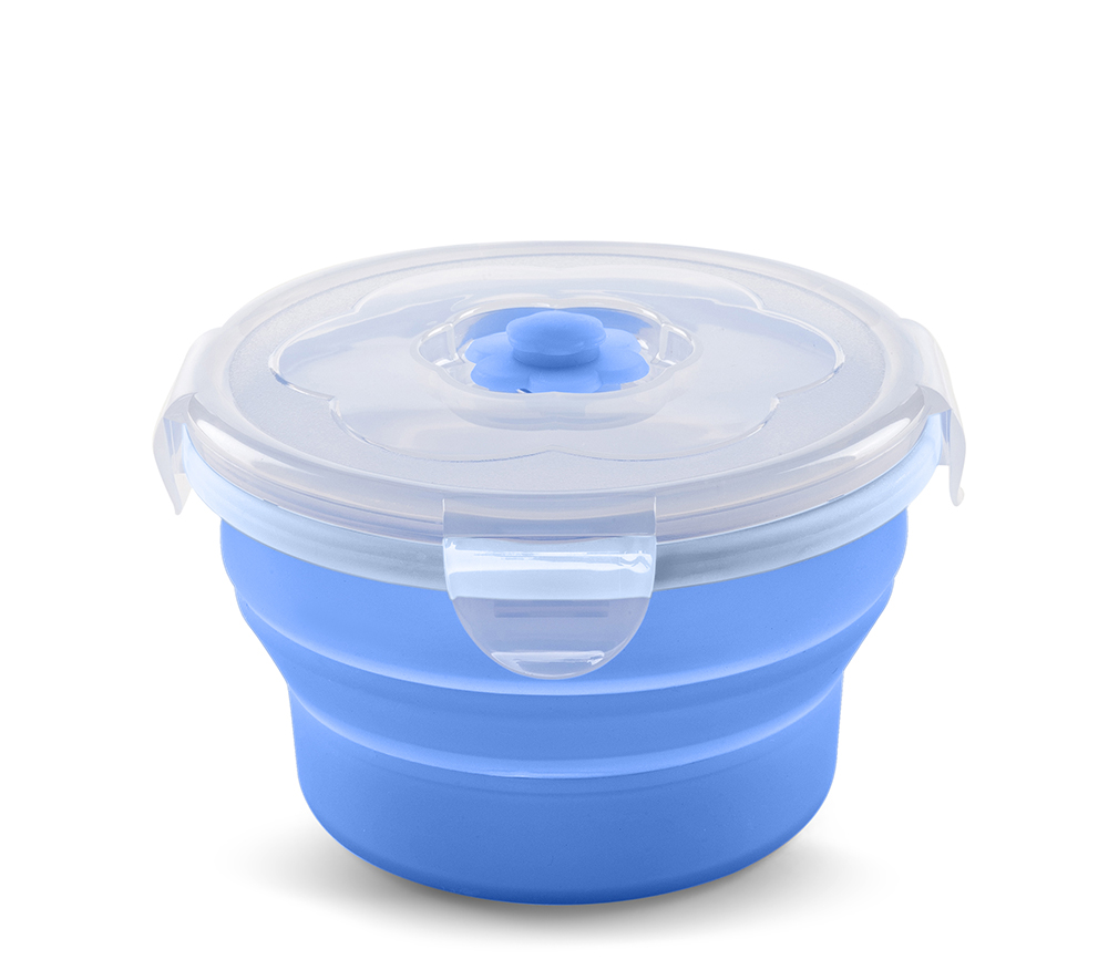 Skládací silikonová miska 230ml, Blue