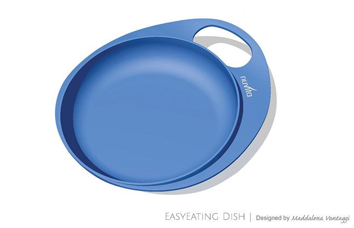 Talíře se zvýšeným okrajem 2ks, Blue