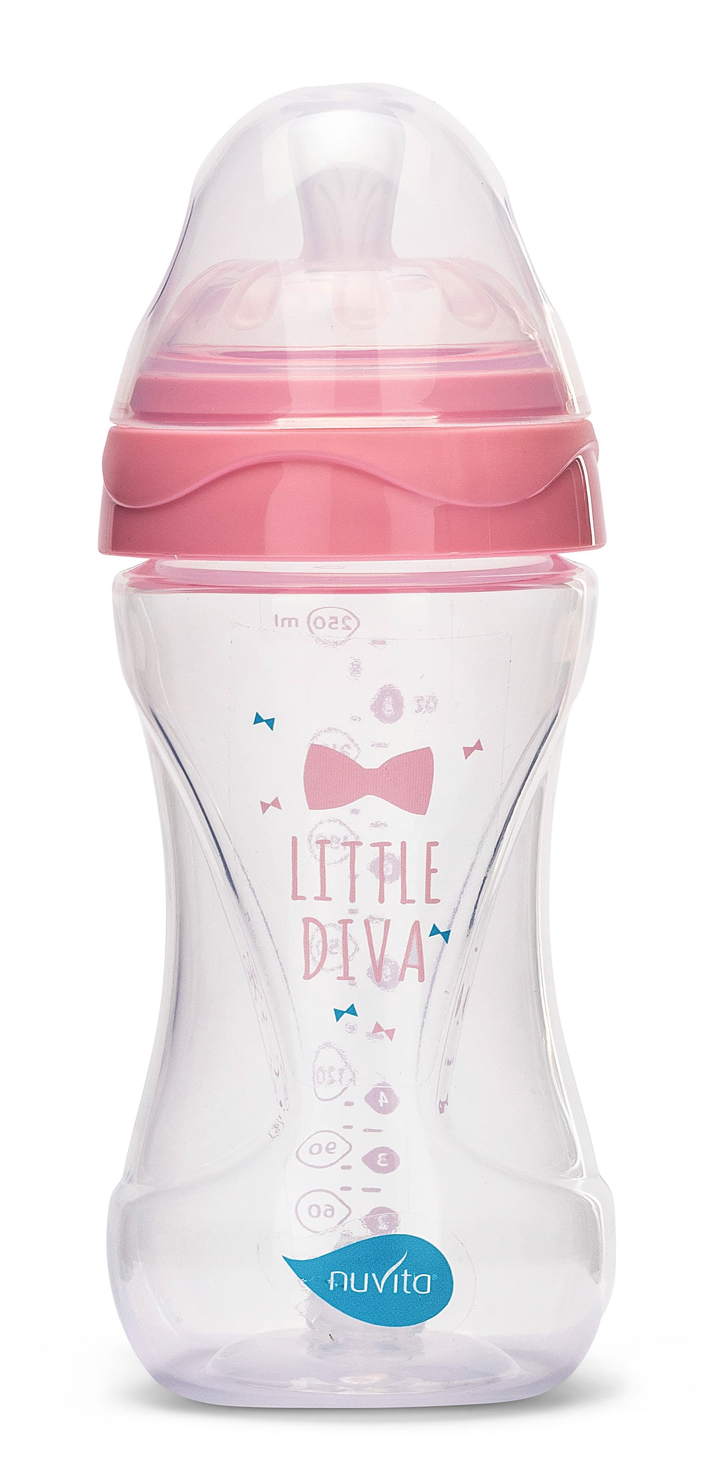 Fľaštička Mimic 250ml, Transparent pink