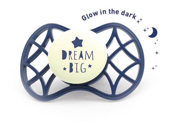 Fyziologický dudlík Cool 6m+ svítící ve tmě, Blue moon