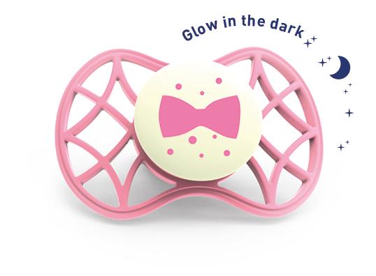 Ortodontický dudlík Cool 6m+ svítící ve tmě, Flamingo