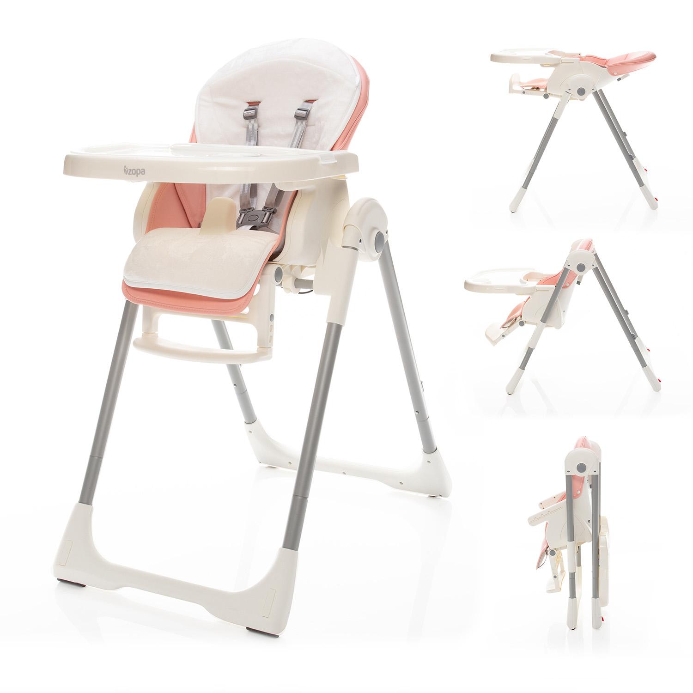 Dětská jídelní židlička Zopa Ivolia - Candy Pink