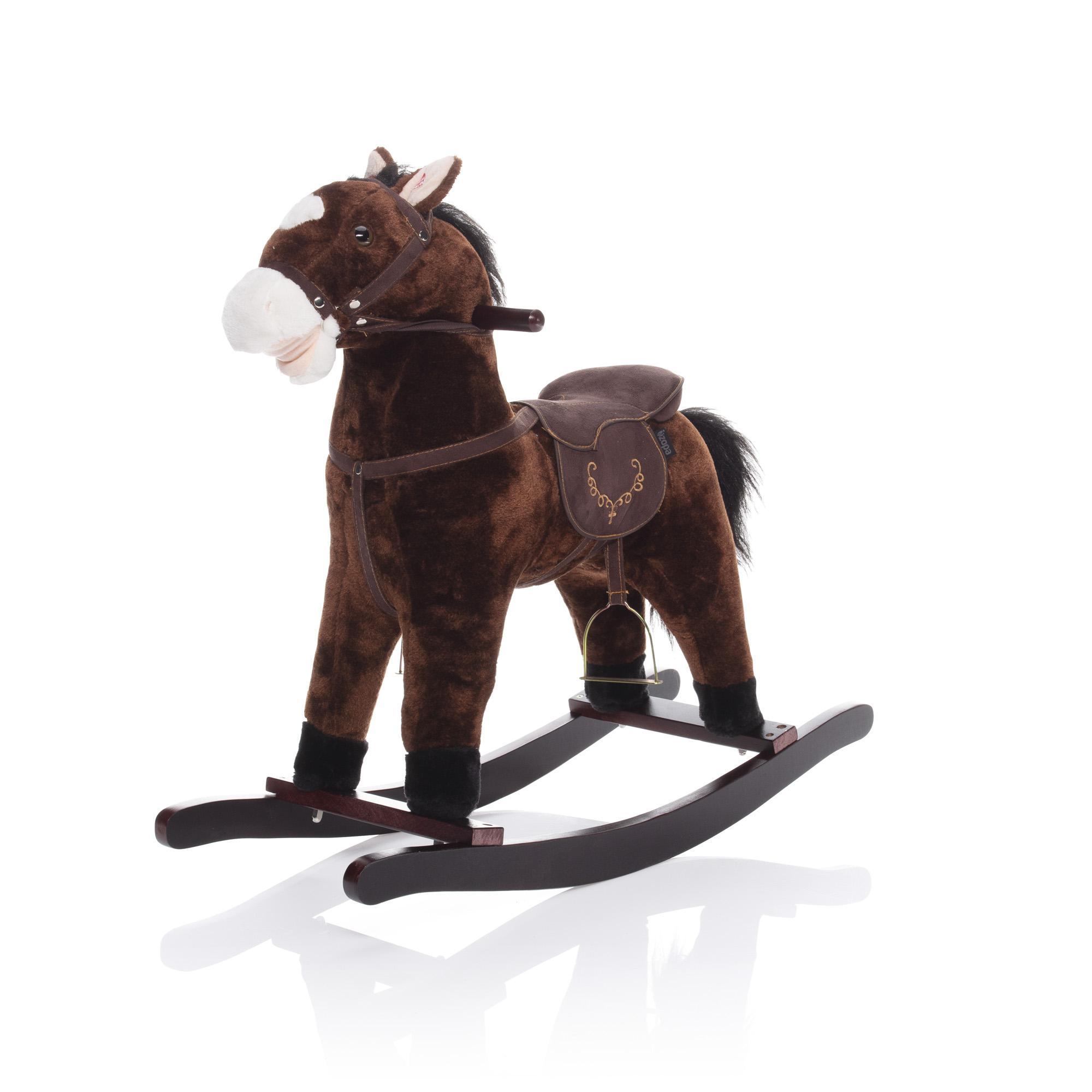 Hojdací kôň tmavo hnedý