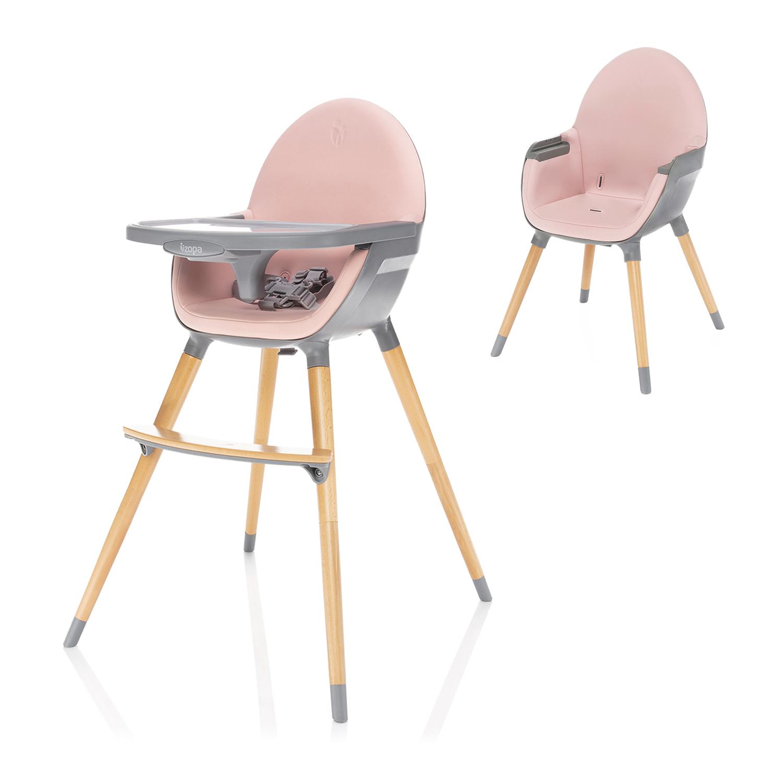 Dětská jídelní židlička Zopa Dolce - Blush Pink/Grey