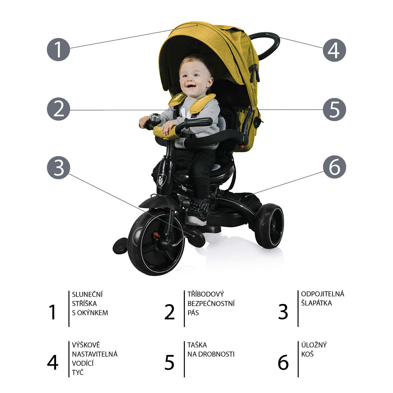 Tříkolka Citi Trike, Curry Yellow