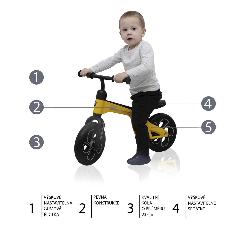 Odrážedlo Tech Bike, Yellow