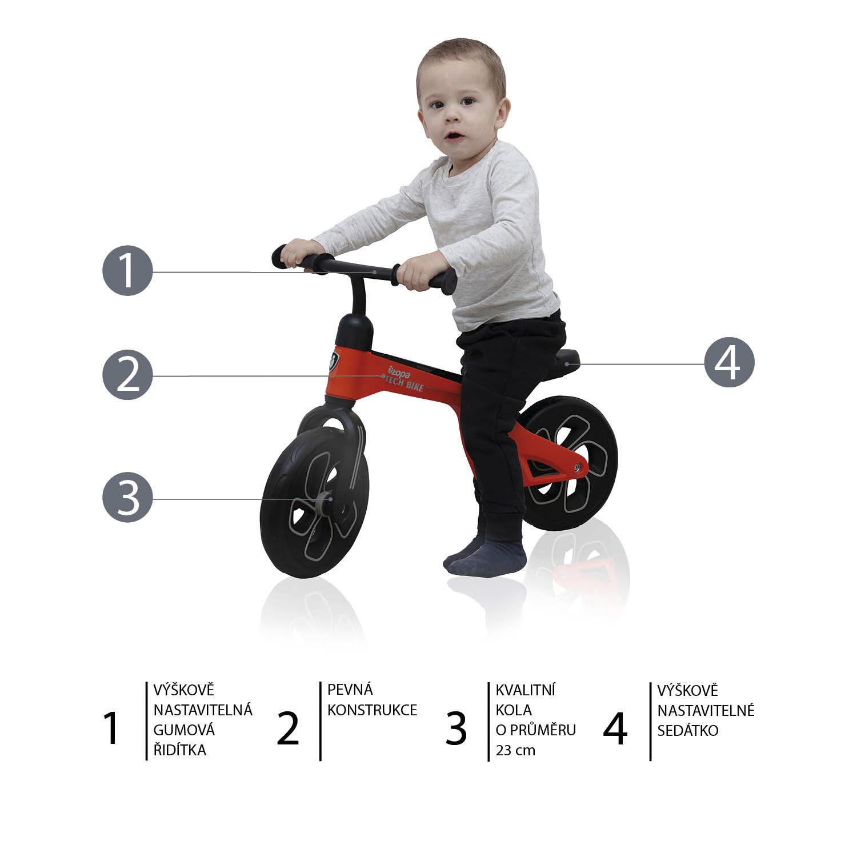 Odrážedlo Tech Bike, Red