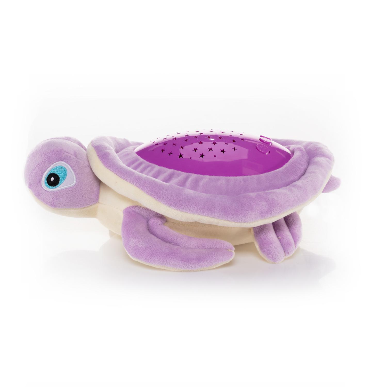 Plyšová hračka Želva s projektorem, Purple