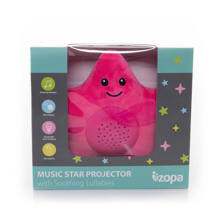 Plyšová hračka Hvězdička s projektorem, Pink