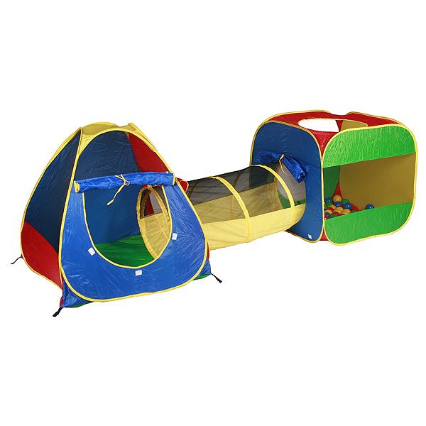 Domeček s míčky a tunelem