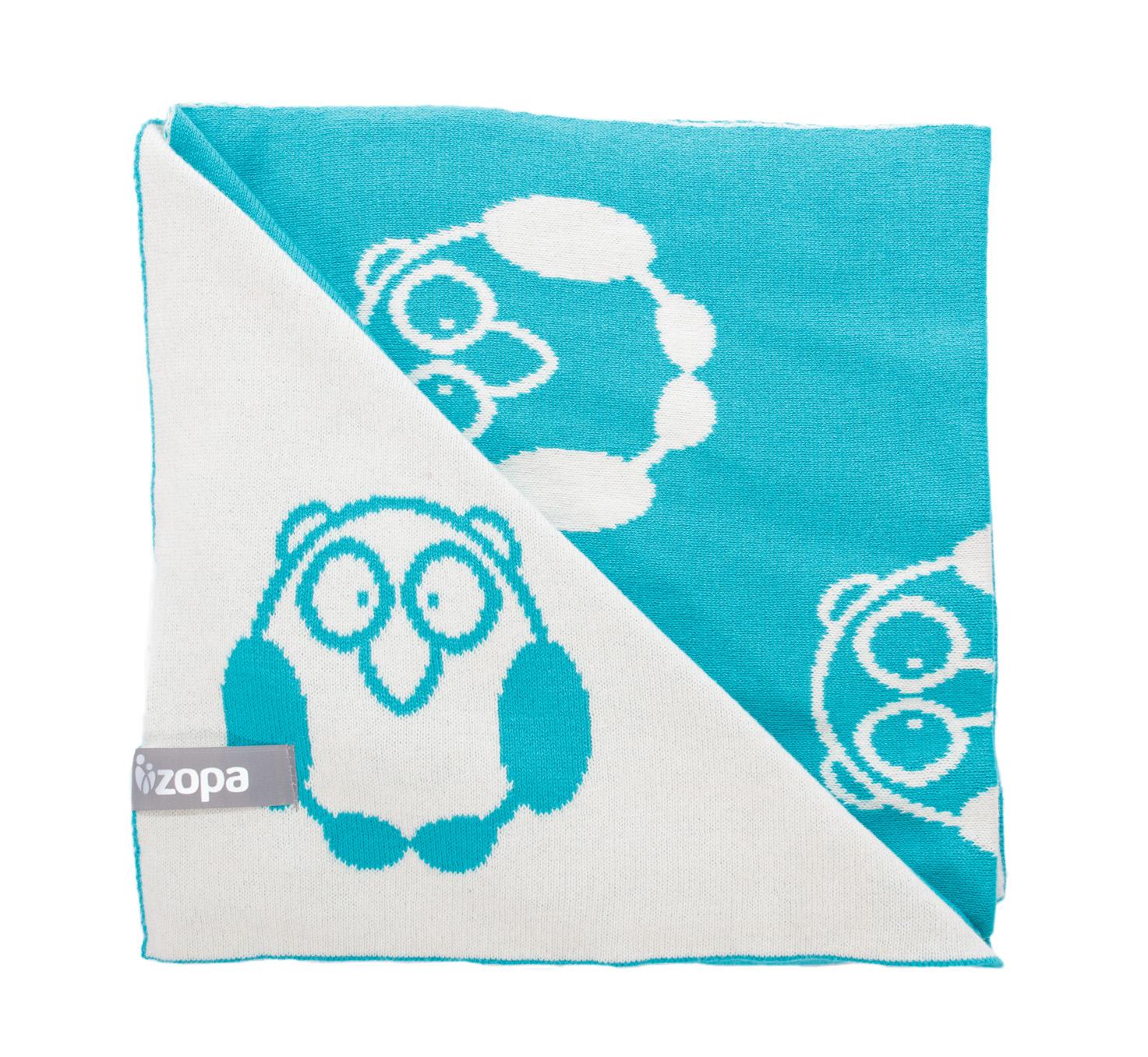 Zopa Dětská deka Little Owl - Mint