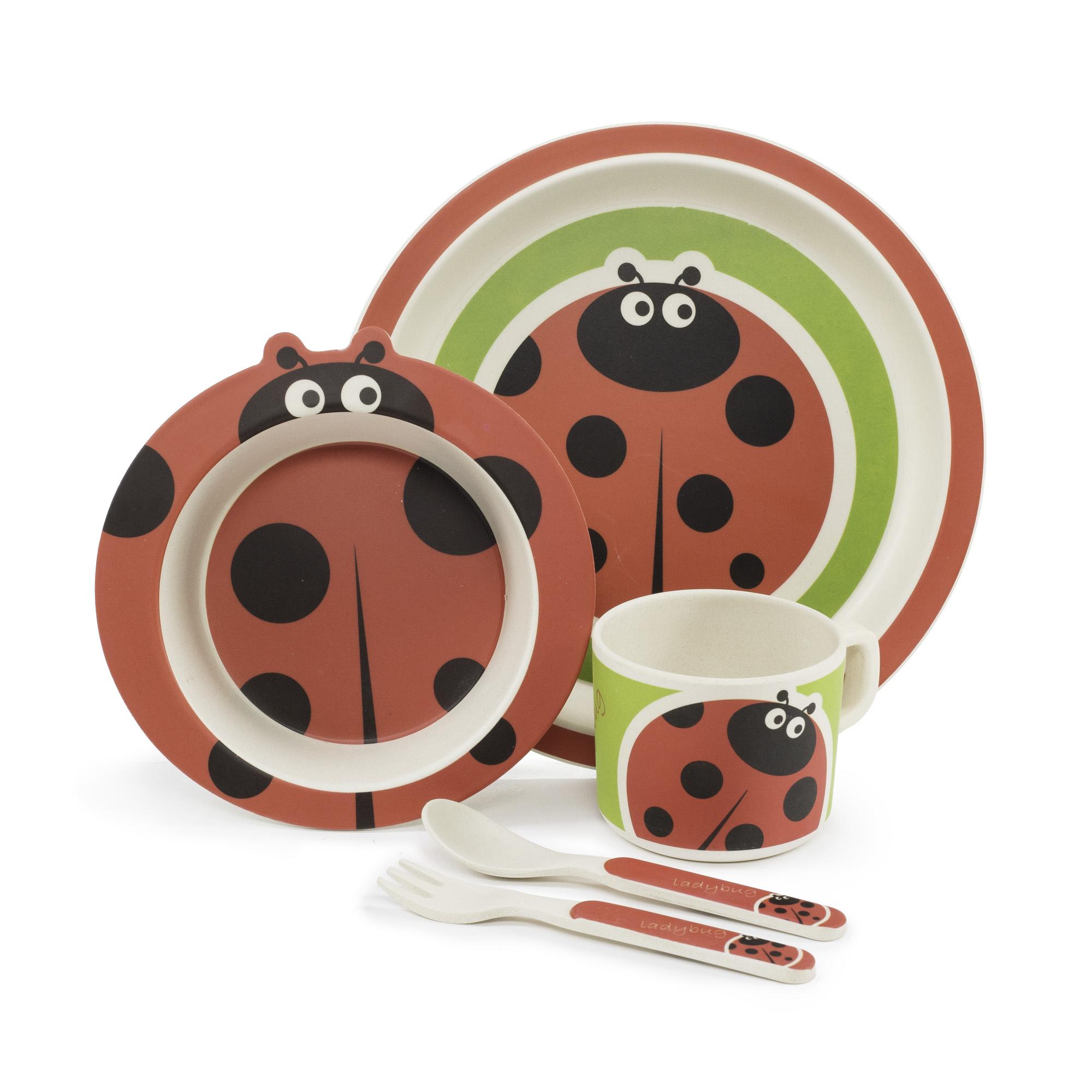 Zopa Bambusová sada nádobí - Ladybird