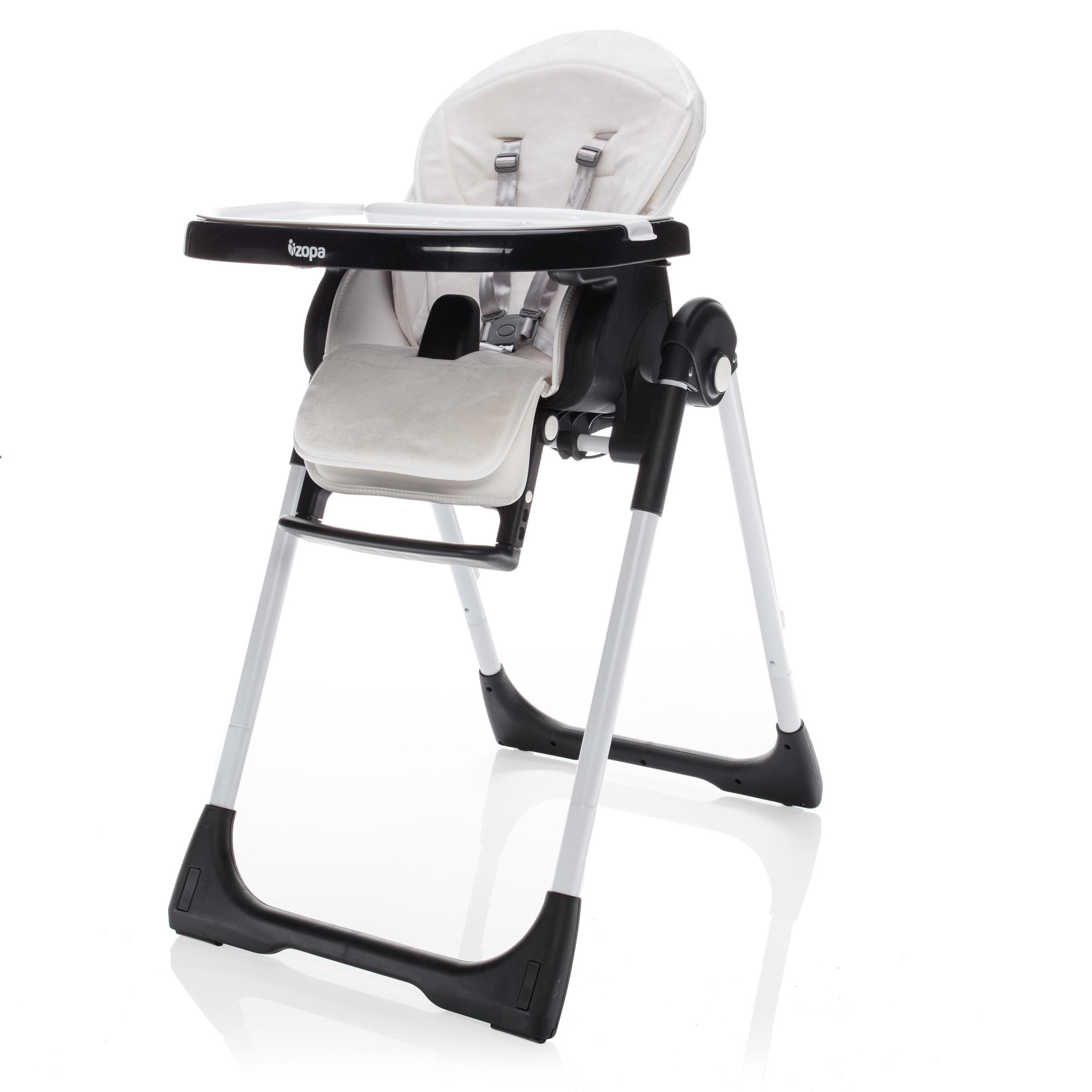 Dětská jídelní židlička Zopa Ivolia - Blacky White