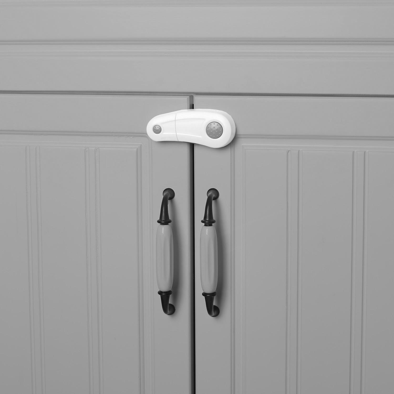 Zámek skříněk 2ks, white/grey