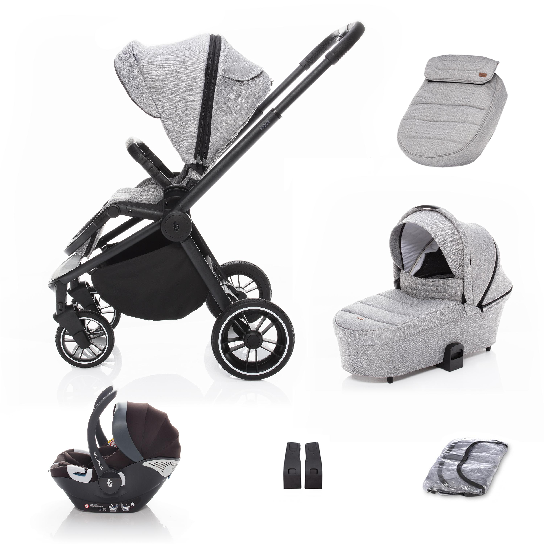 SET kočárek Move+ korba+adaptéry+autosedačka, Silver Grey/Black