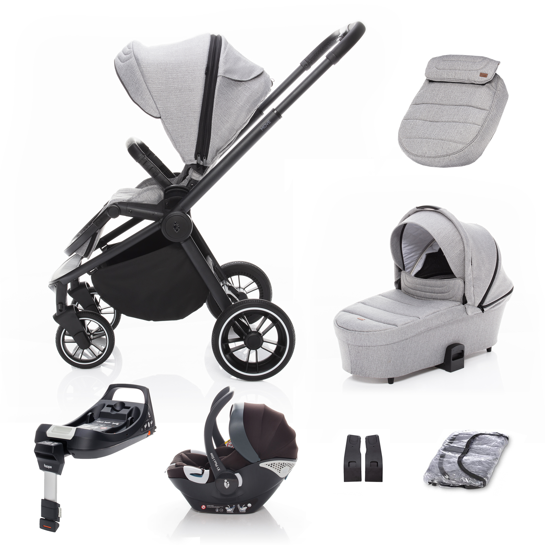 SET kočárek Move+ korba+adaptéry+autosedačka+báze, Silver Grey/Black