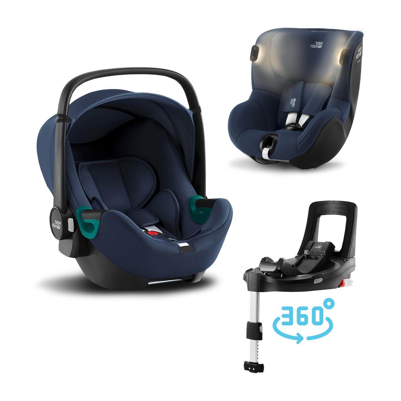 Set autosedačka Baby-Safe 3 i-Size+Báze Flex Base Isense+Autosedačka Dualfix iSense, Indigo Blue