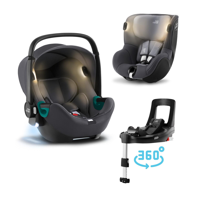 ROMER set Baby-Safe 3 i-Size+ základňa Flex Base Isense+Autosedačka Dualfix iSense 2021 Midnight Grey