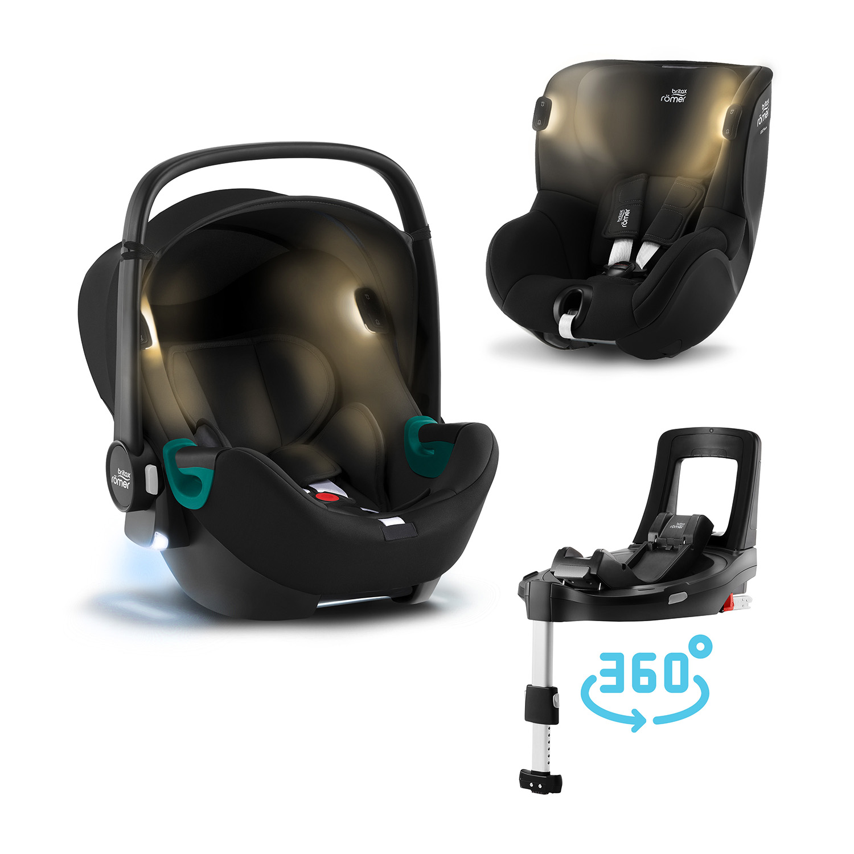 Set autosedačka Baby-Safe iSense+Báze FLEX BASE Isense+autosedačka DUALFIX iSense, Space Black