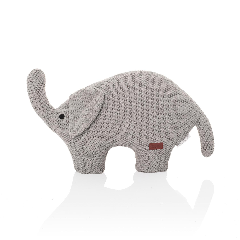 Pletená hračka Slon, Grey