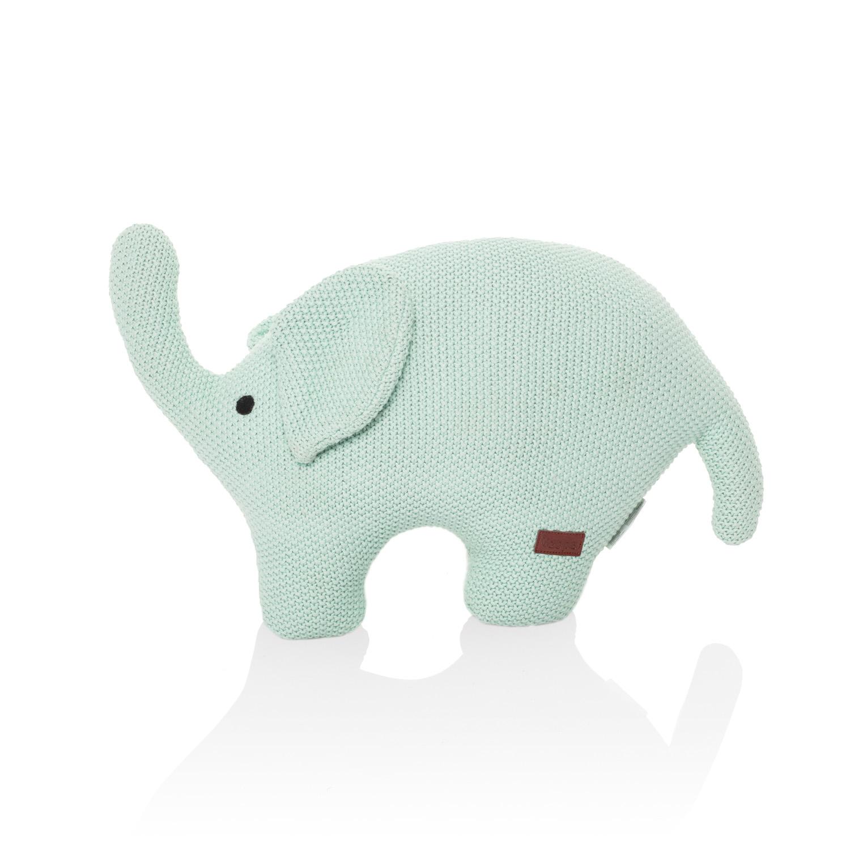 Pletená hračka Slon, Mint